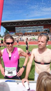 Lorraine en Alan na de finish in Oss